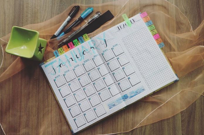 Monthly Planner, Schedule Stay Fit On Vacation