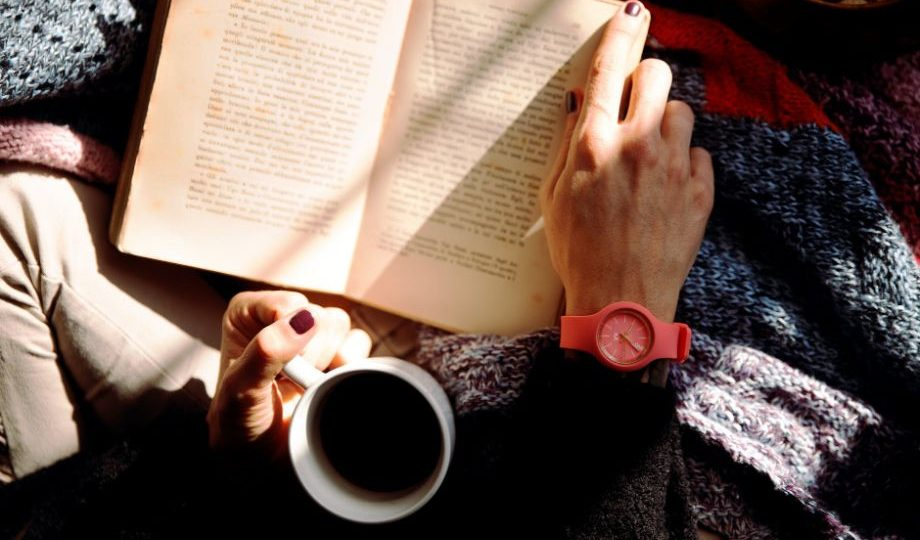 Reading And Having Coffee - to study in less time for exams