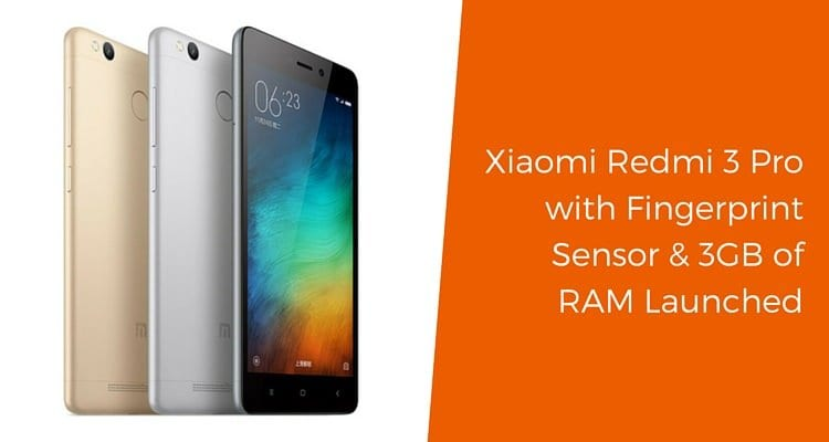 redmi 3 pro launched