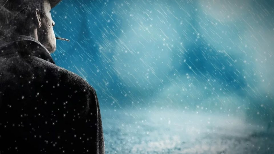 Man Watching the Snow Fall. - take control of your life