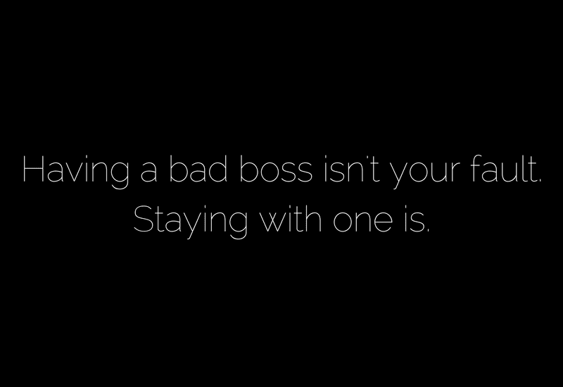 Be the boss you wanted for youself
