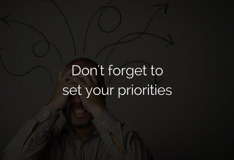 set priorites