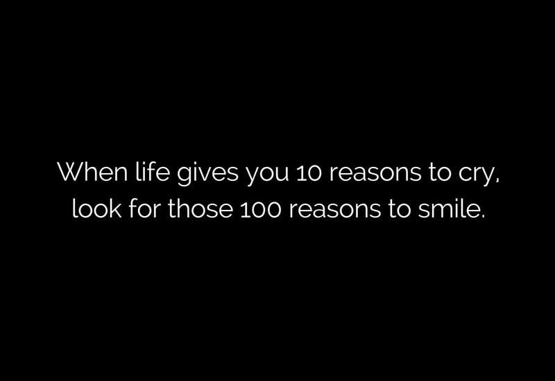 there are a lot of reasons to smile