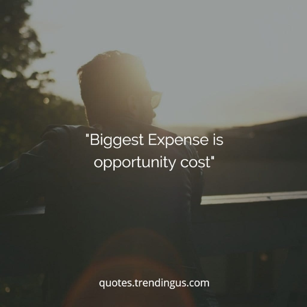 biggest expense  is opportunity cost