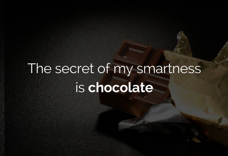 chocolate makes you smart
