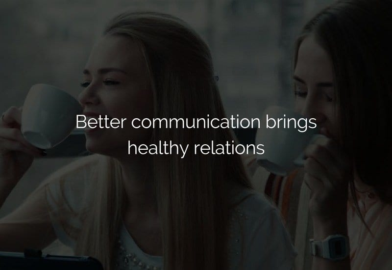 communication for better relations