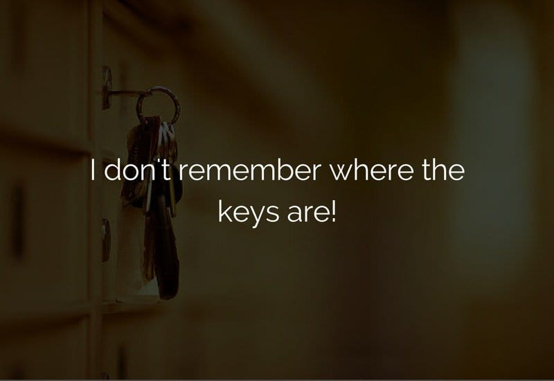 lost keys of home