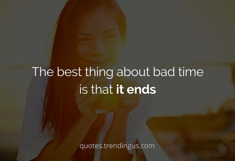 best thing about bad times
