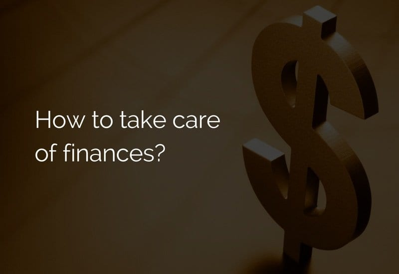 take care of finances