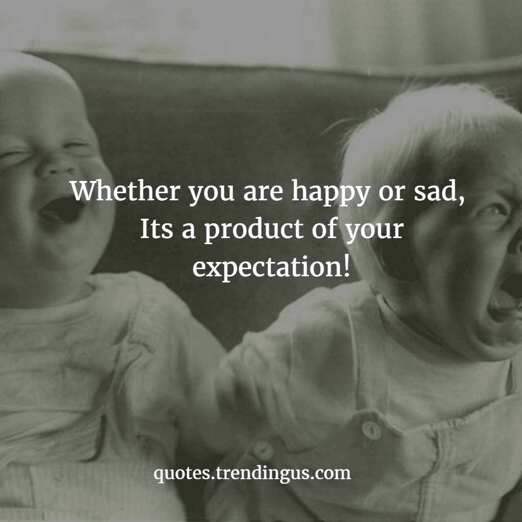 happy sad expectation trending us