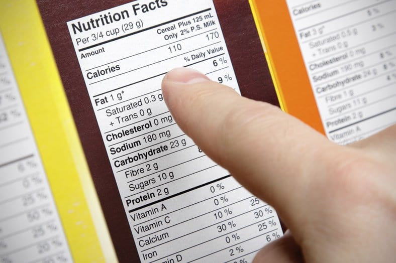 Nutrition info for weight loss