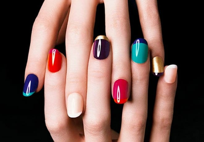 nails colourful devyaani
