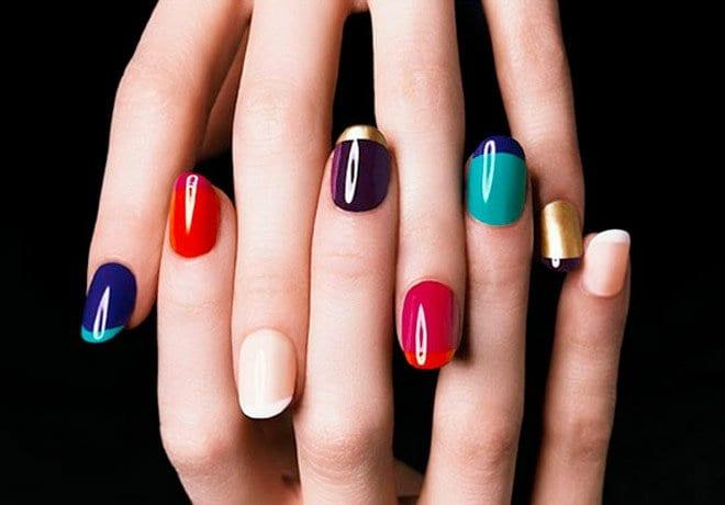 nails colourful devyaani