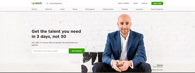 Upwork.com Best Freelancing Websites In India