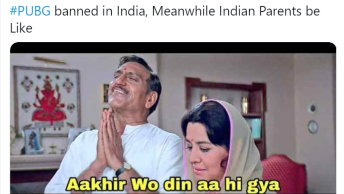 Hilarious Memes On PUBG Ban In India