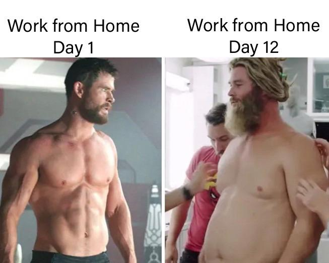 Thor Work From Home Meme