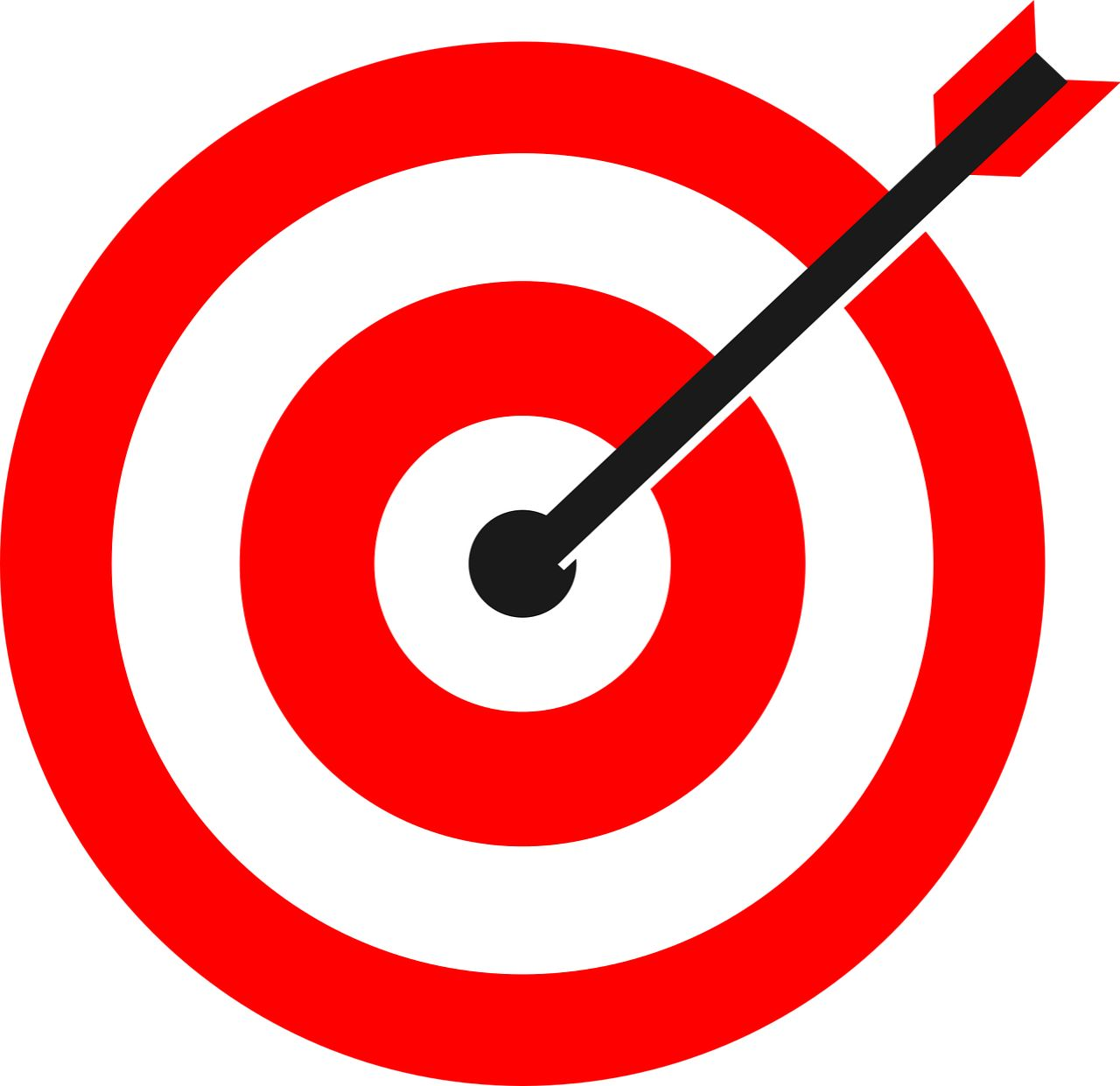 Arrow Pinched In To The Target. symbolises having goals - the most important thing in life
