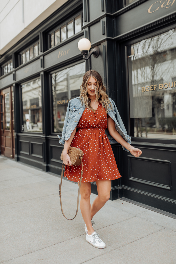 Skater Dress With Sneakers