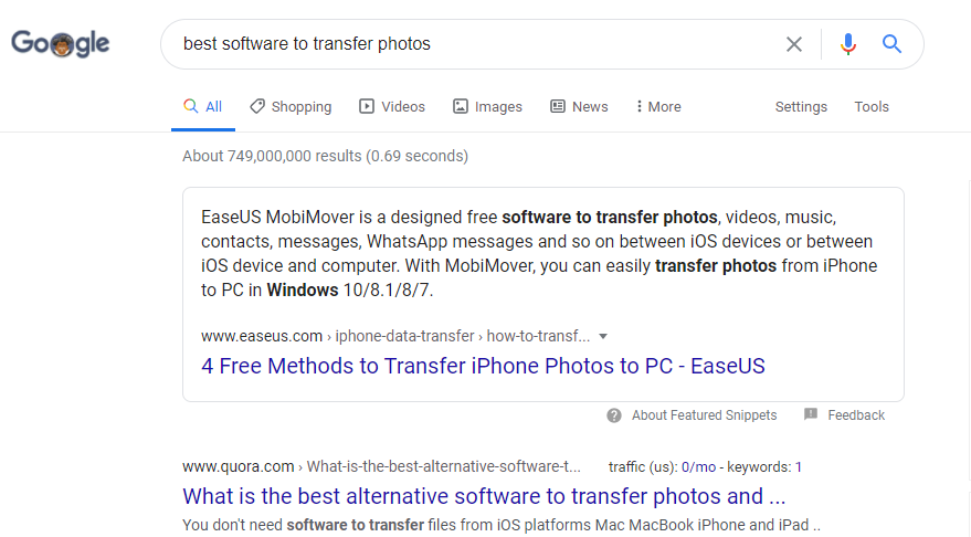 Google Searc Best software EaseUs Mobimover Iphone