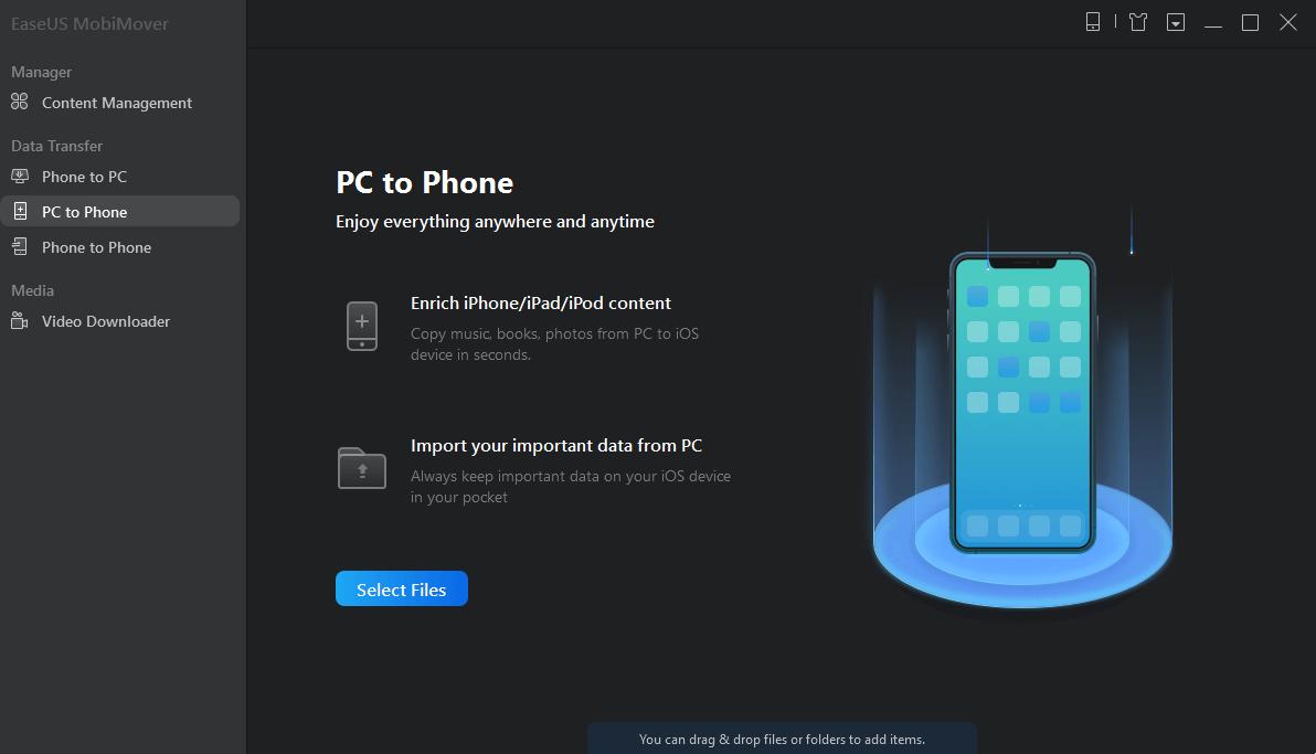 PC TO PHONE EASEUS MOBIMOVER