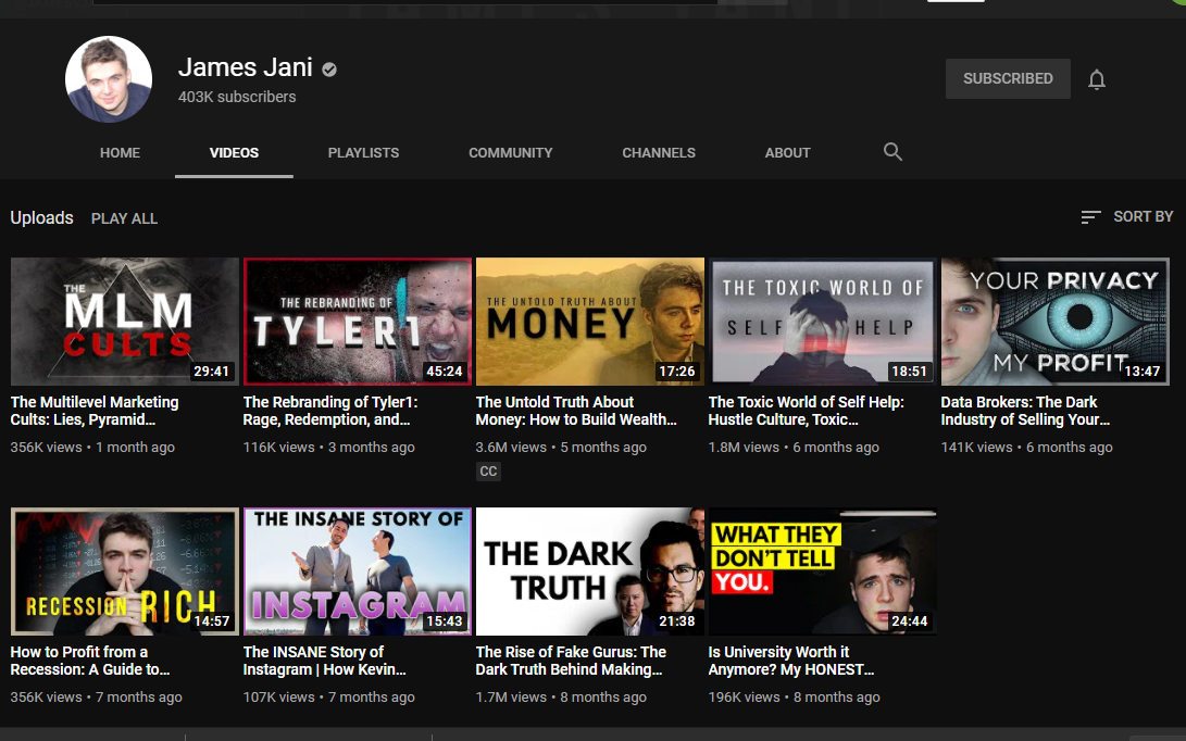 Youtube James Jani
