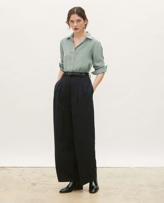 8 High Waist Trousers With T Shirt Setting New Work Outfit Trend